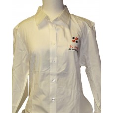 Ladies Bamboo Long Sleeve Shirt-Ivory